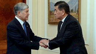 Jeenbekov meets with Atambayev