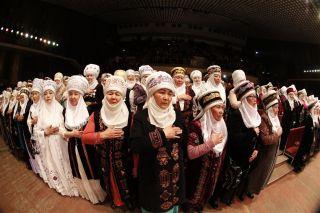 Celebration of Elechek with the participation of 1,000 women held in Bishkek
