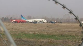 Boeing 737 aircraft crash lands in Osh Airport