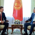 Atambayev meets with Alexey Miller